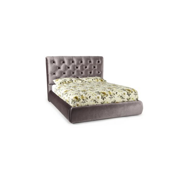 Alexandra Lilac Fabric Bed Frame 1