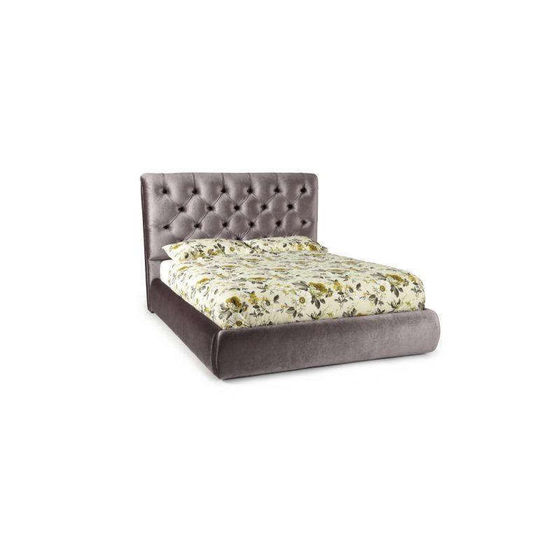 Alexandra Lilac Fabric Bed Frame 1