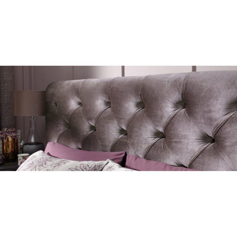 Alexandra Lilac Fabric Bed Frame 12