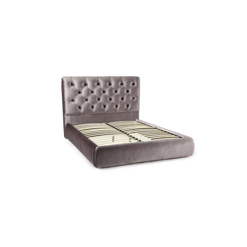 Alexandra Lilac Fabric Bed Frame 2
