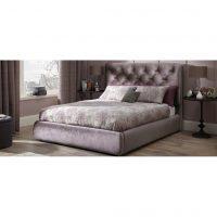 Alexandra Lilac Fabric Bed Frame 3