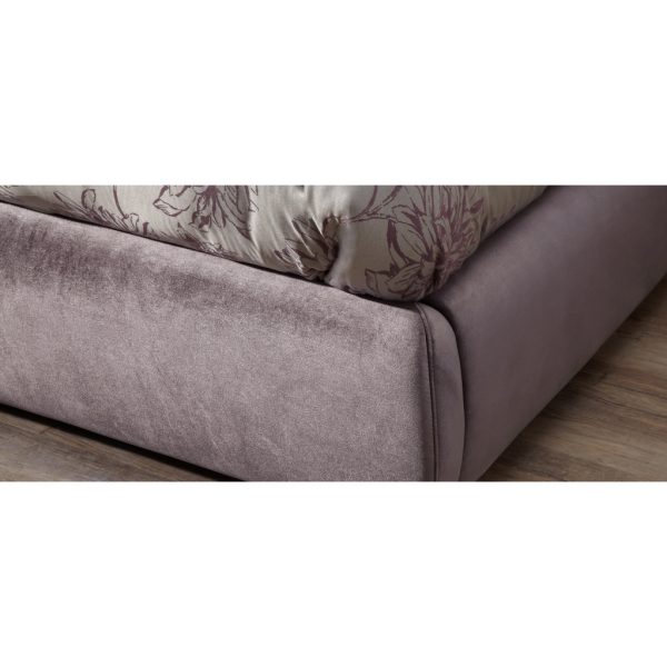 Alexandra Lilac Fabric Bed Frame 8