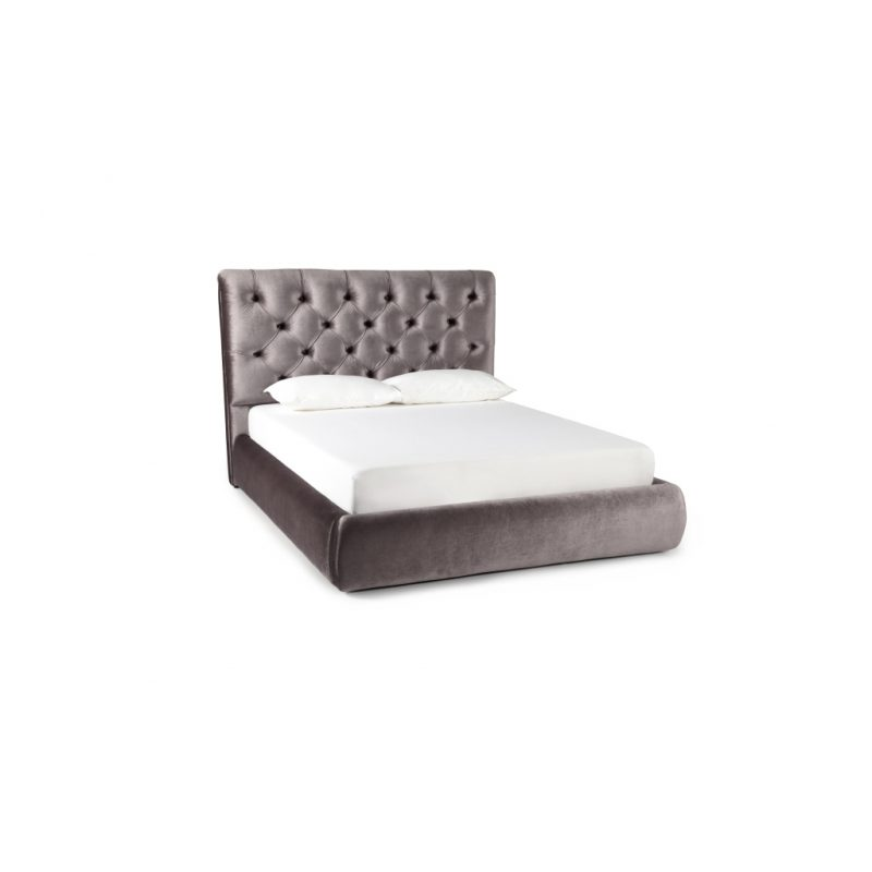 Alexandra Lilac Fabric Bed Frame