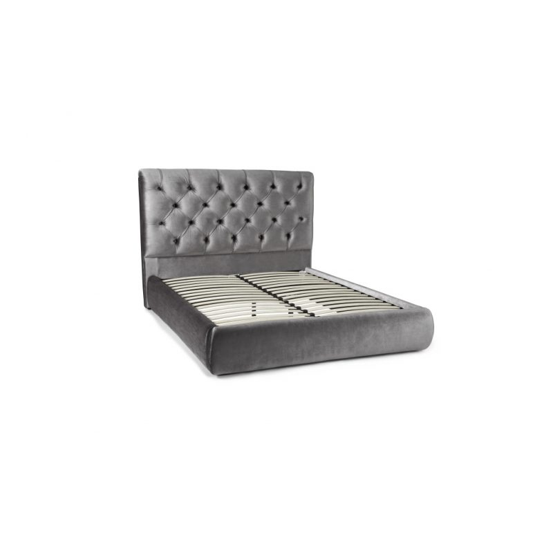 Alexandra Silver Fabric Bed Frame 1