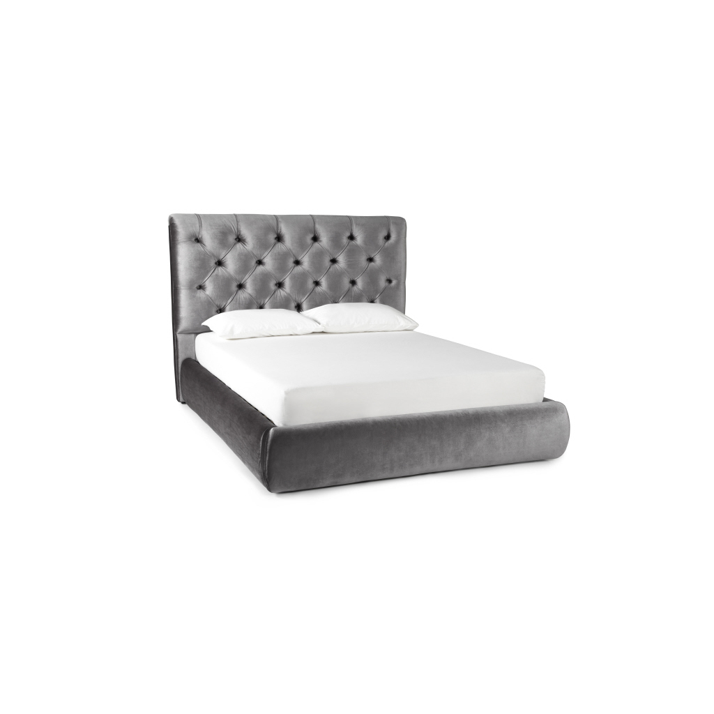 Alexandra Silver Fabric Bed Frame