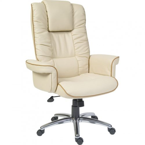 Allure Executive Office Chair Cream Leather 1