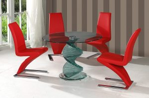 Twirl Clear Glass Dining Table 2