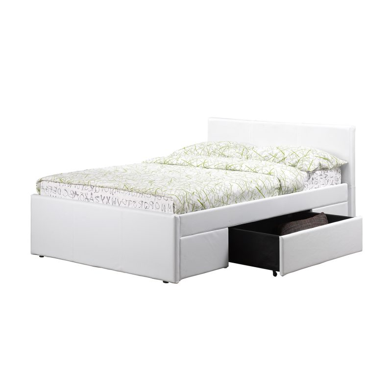 Faith Faux Leather Drawer Bed 4