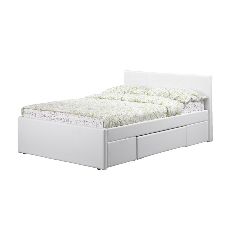 Faith Faux Leather Drawer bed