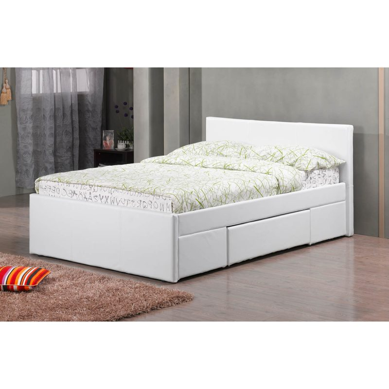 Faith Faux Leather Drawer bed2