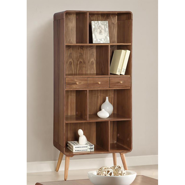 Jual Scandinavian Walnut Bookcase In Walnut & Ash