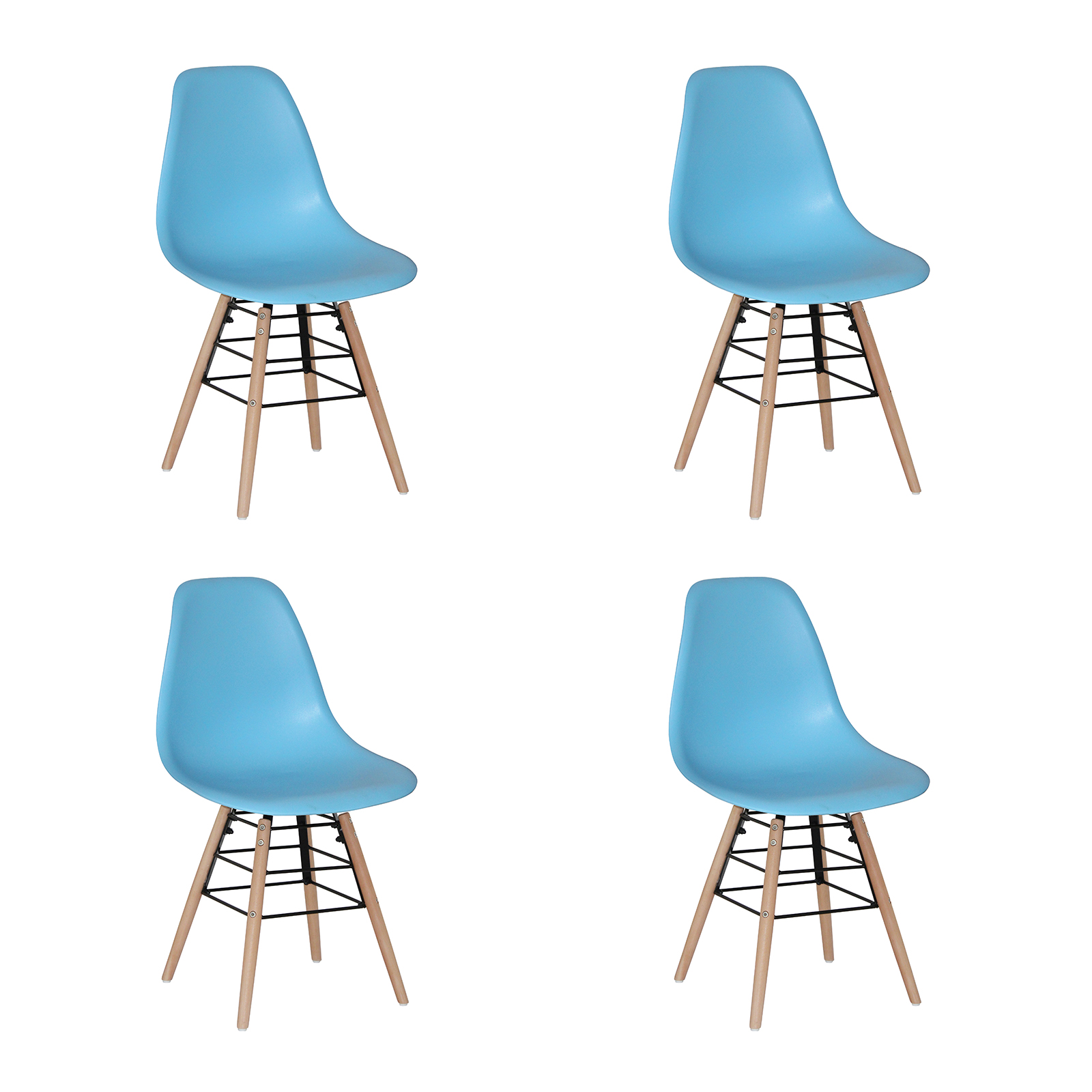 Classic Wooden Sofa Set, River Bright Eames Style Dining Chairs Blue Dining Chairs Fads
