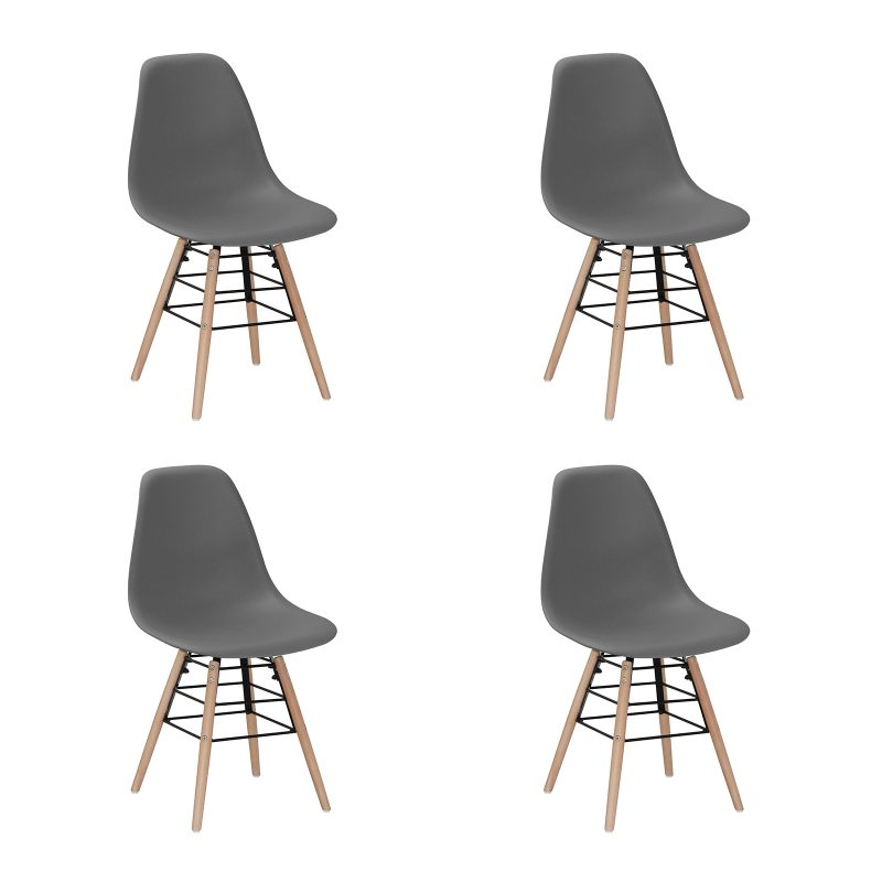 River Eames Inspired Dark Grey Dining Chairs Modern Furniture
