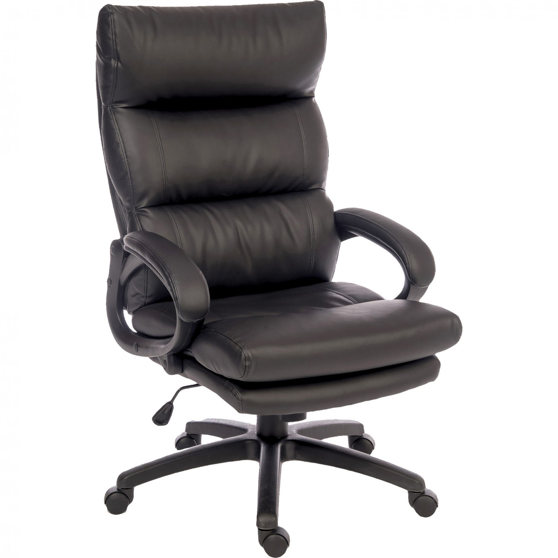 Lincoln Luxury Black Office Chair Faux Leather | Home ...