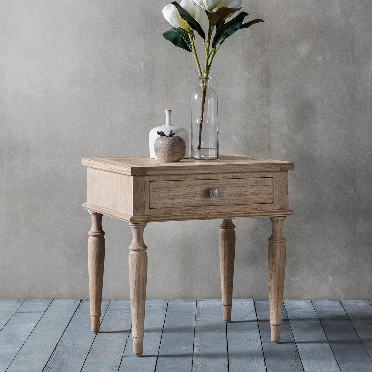 Delicieux French Colonial 1 Drawer Side Table At FADS.co.uk