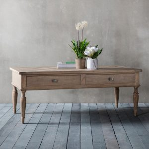 French Colonial 2 drawer coffee table at FADS.co.uk