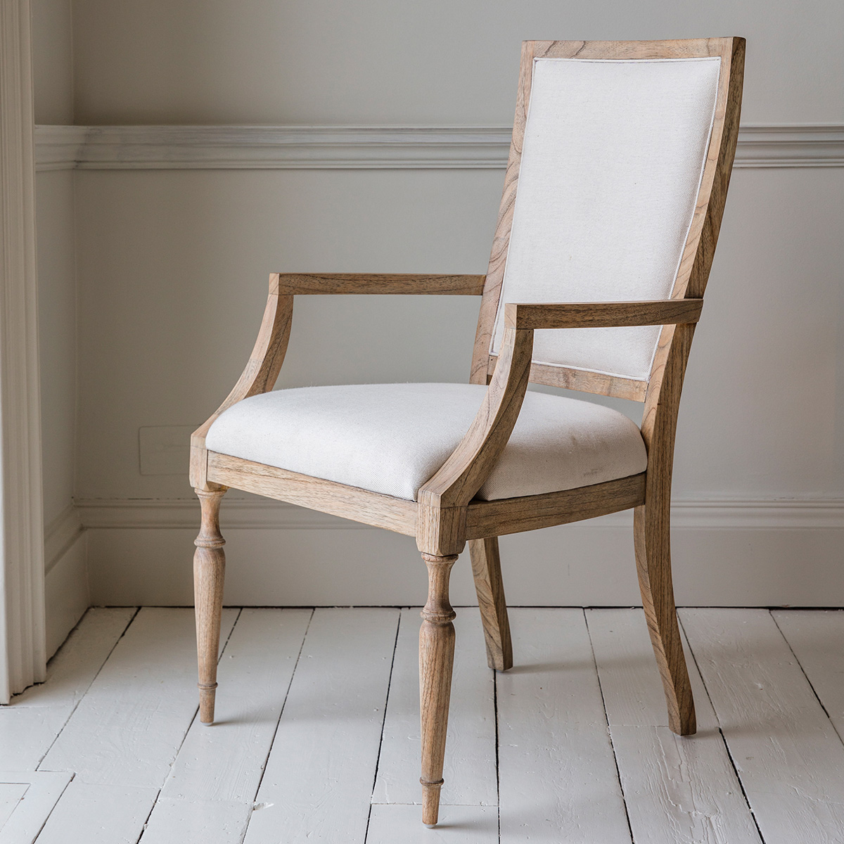 French Colonial Carver Dining Chair