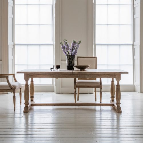 French colonial rectangular dining set at FADS.co.uk