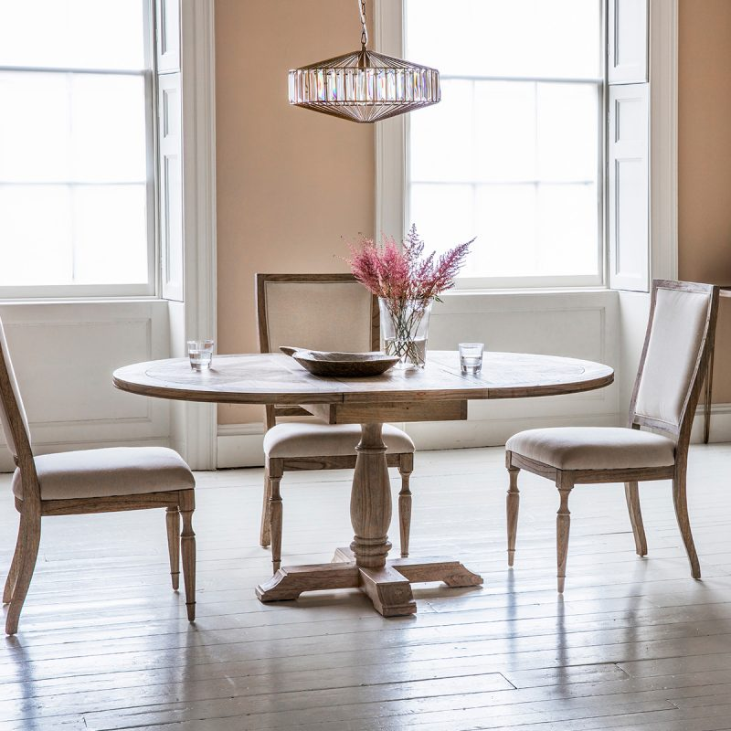 French colonial round dining set at FADS.co.uk