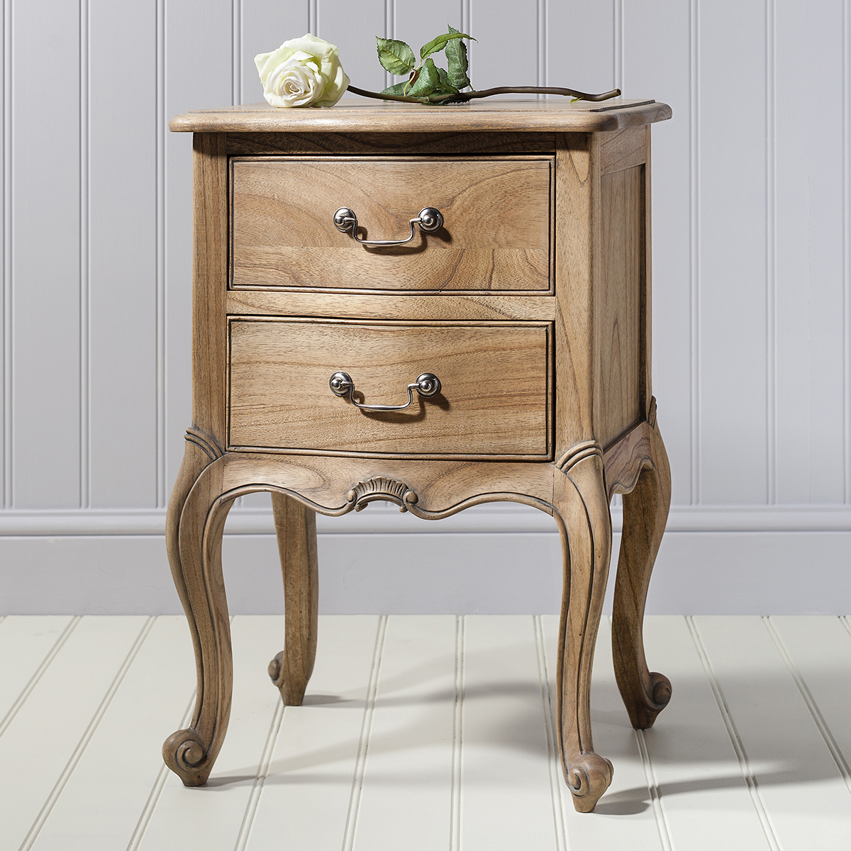 Madeleine bedside drawers in Weathered Ash at FADS.co.uk
