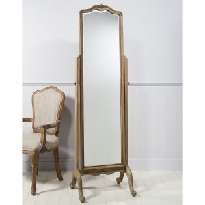 Madeleine Weathered Ash Cheval Mirror at FADS.co.uk