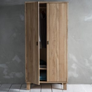 Narrative Solid Oak Wardrobe 2 Door at FADS.co.uk