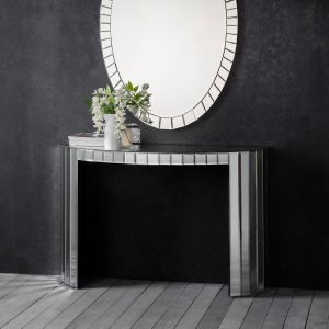Odeon Mirrored Glass Console Table at FADS.co.uk