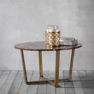 Palatine Marble Round Coffee Table at FADS.co.uk