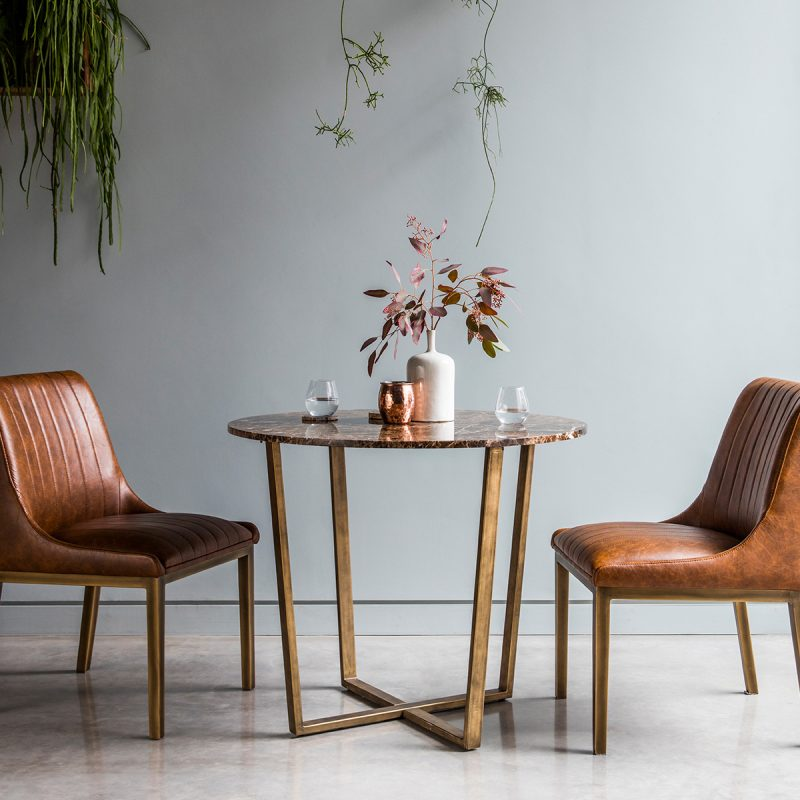 Palatine Marble Dining Table Round 2-4 seat at FADS.co.uk