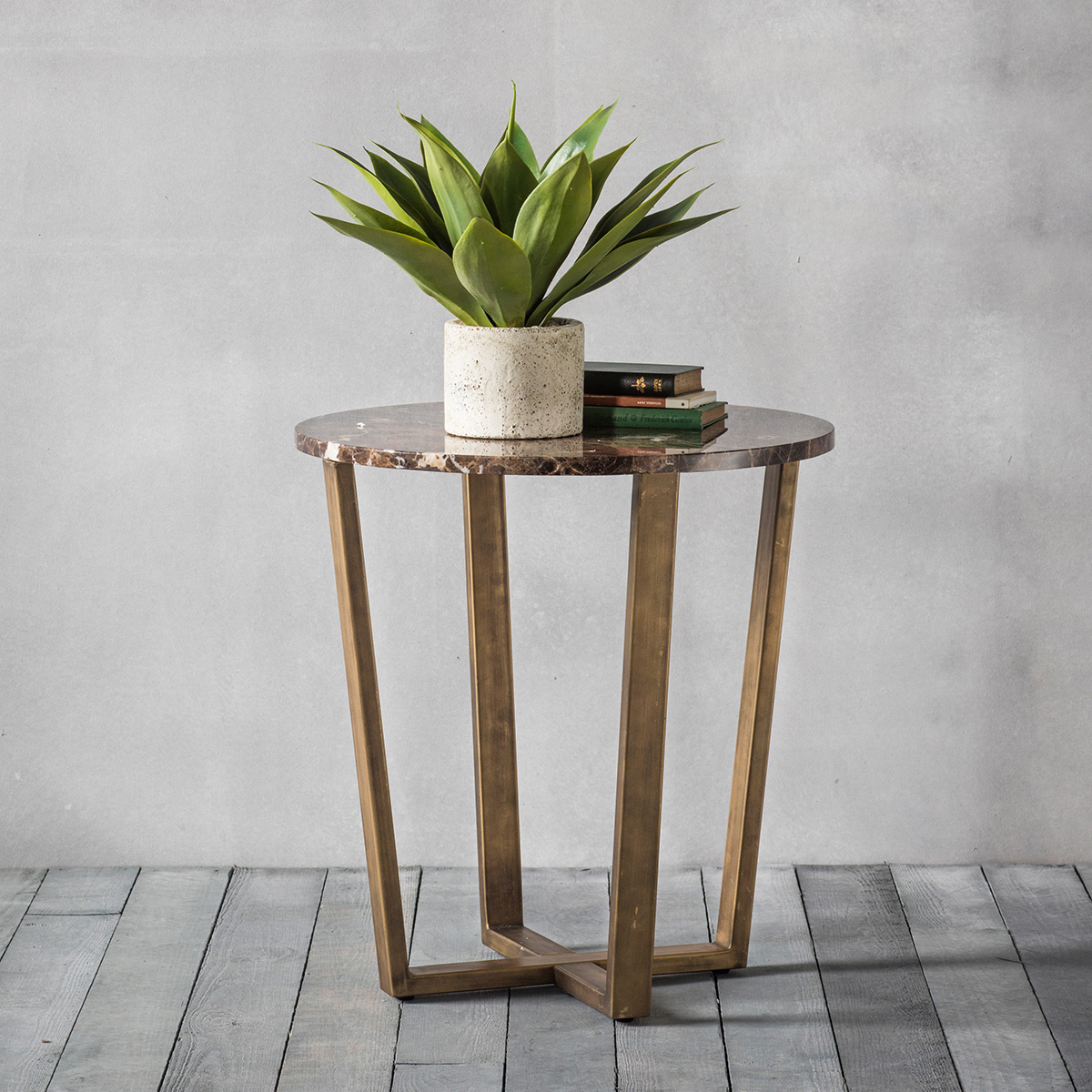 Palatine Marble Round Side Table at FADS.co.uk