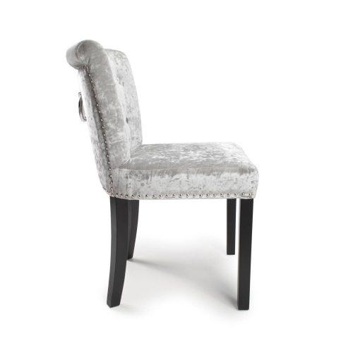 Sandingham Silver Crushed Velvet Dining Chairs 1