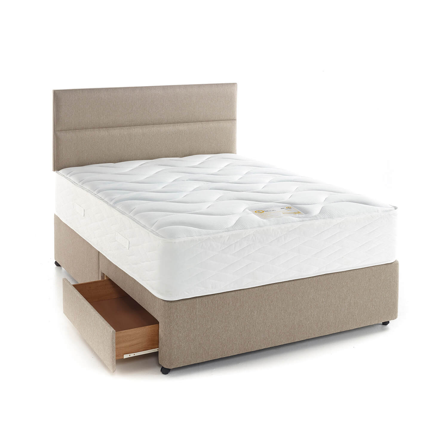 Myers Memory comfort 1400 150-Comfort-1400-Taupe-Contour-Open