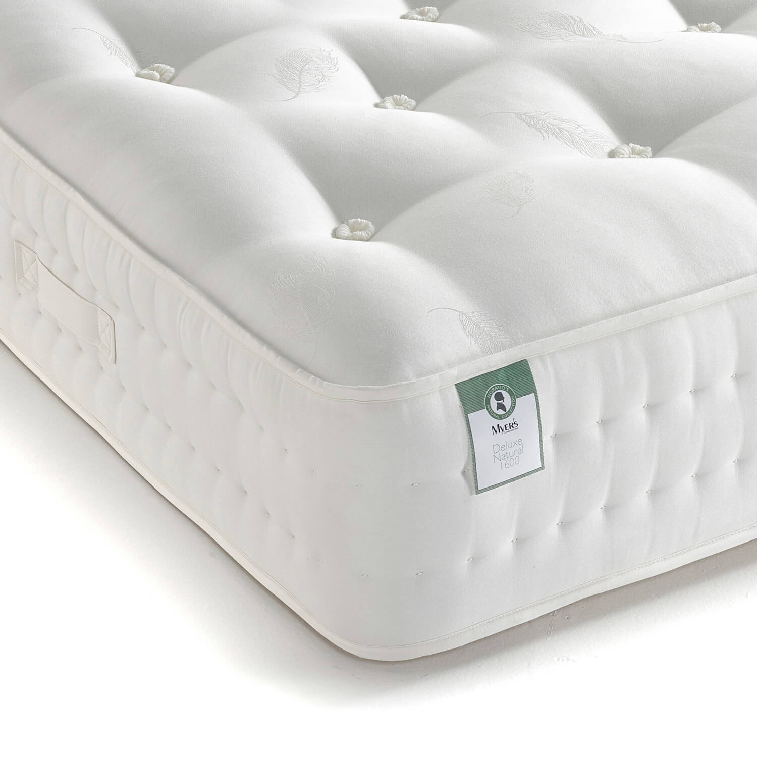 Mattresses Myers Pocket Sprung Mattress Natural Wool 1600 - with 100% natural layers (Size: Small Double)
