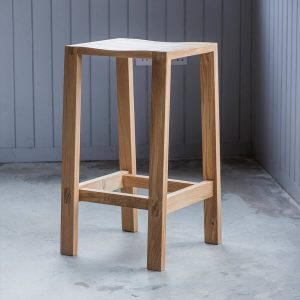 Narrative solid oak bar stool