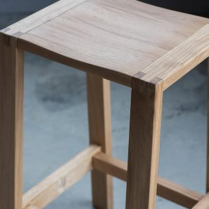 Narrative solid oak bar stool 1