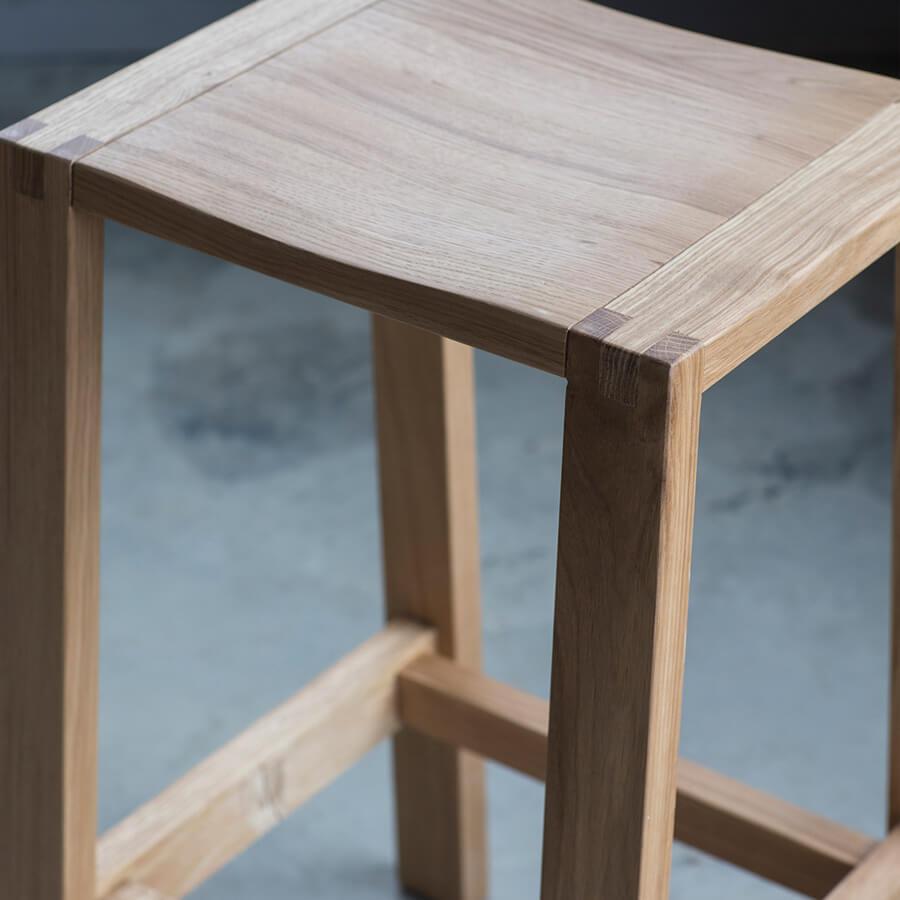 Narrative solid oak bar stool 1