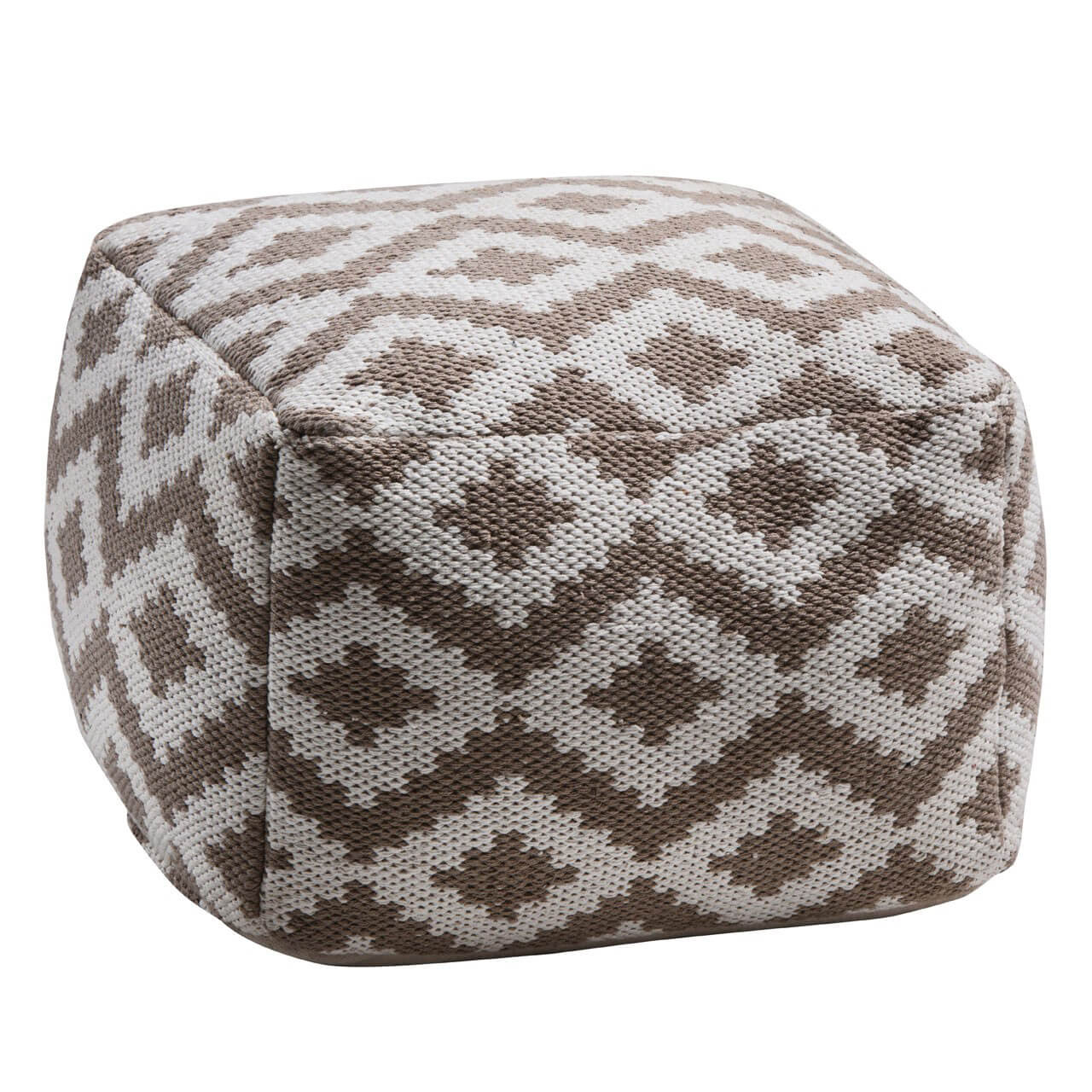 Aztec brown pouffe footstool