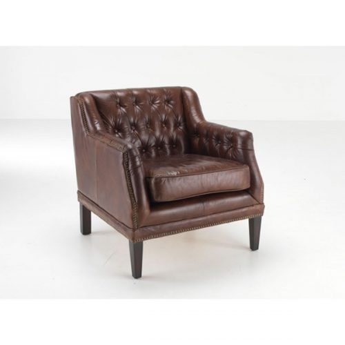Chichester-leather-armchair-brown-button-back