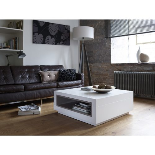 Matt white coffee table Contemporary-Square-Coffee-Table---Savoye-WHITE-with-STONE-accent-2 - Copy