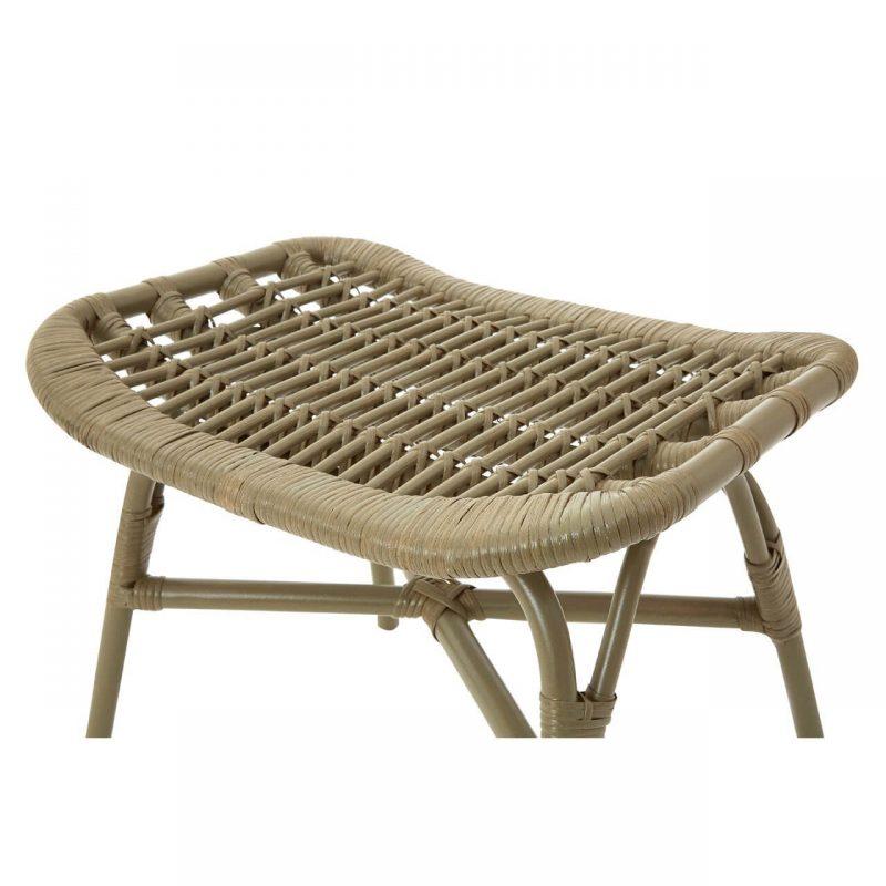 Cuba Rattan armchair & footstool grey at FADS.co.uk