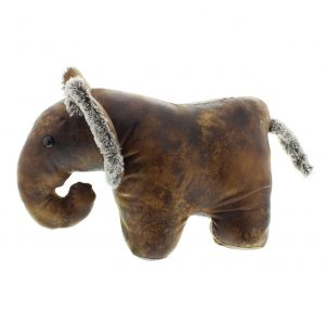 Elephant faux leather door stop