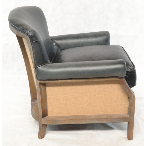 Farley-armchair-leather-with-hessian-back---black-3