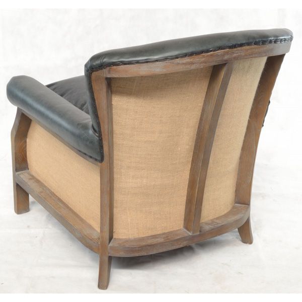 Farley-armchair-leather-with-hessian-back---black-4