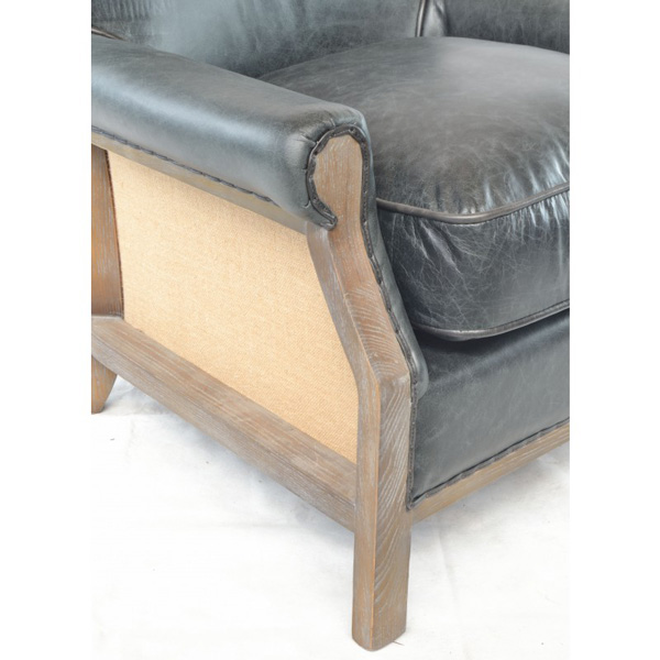 Farley-armchair-leather-with-hessian-back---black-5
