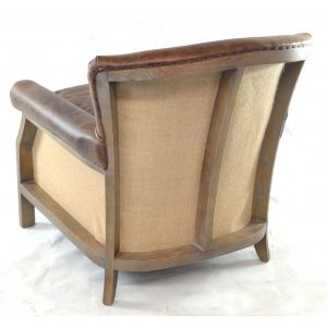 Farley leather armchair-with-hessian-back---brown-3