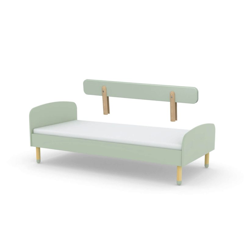 Flexa-Single-Bed-with-Rail-Mint