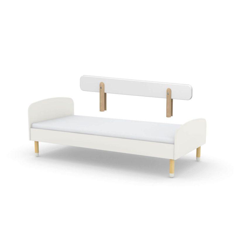 Flexa-Single-Bed-with-Rail-White