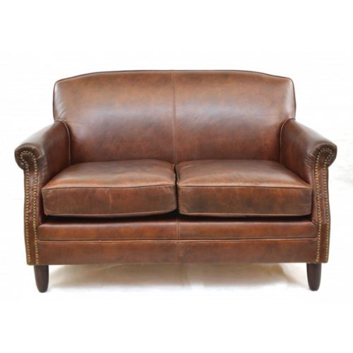 Girton-brown-leather-2-seater-sofa-1 - Copy