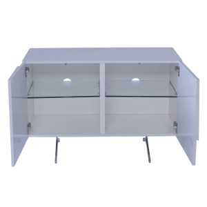 Glacier 2 door sideboard white high gloss D412-3310 detail GILLMORESPACE at FADS Furniture & Design Studio