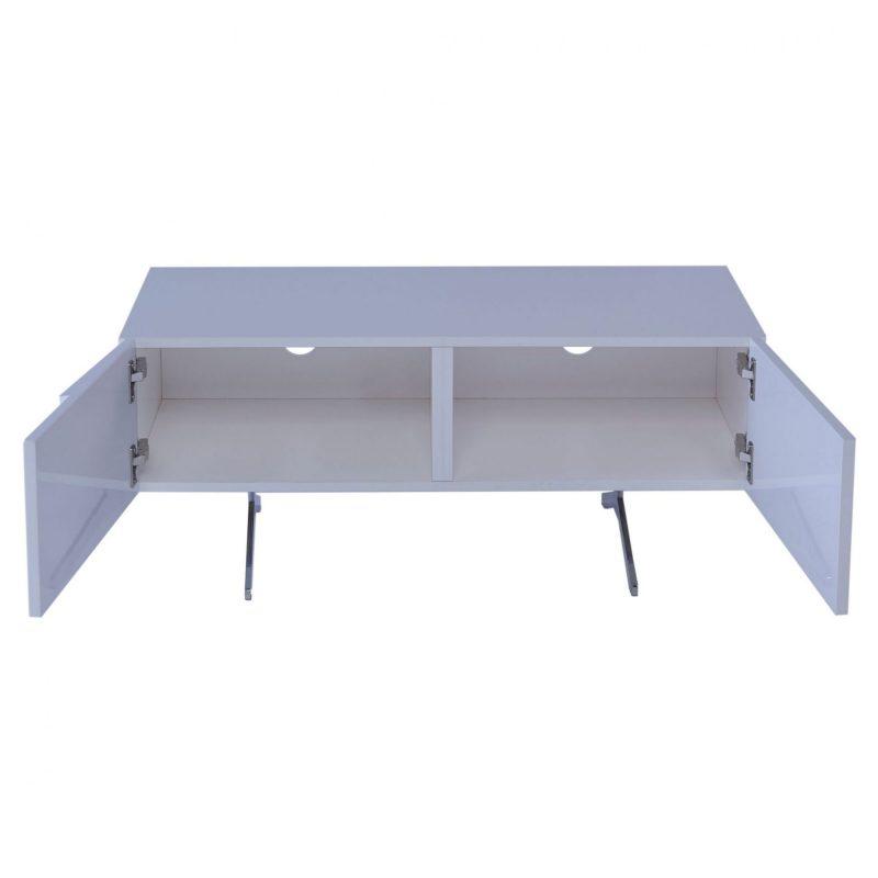 Glacier low media sideboard 1 or 2 door white high gloss Gillmore Space at FADS Furniture & Design Studio